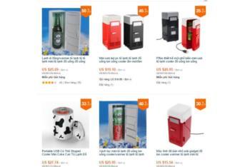 Tủ lạnh siêu nhỏ, quạt USB ồ ạt đổ bộ chợ mạng